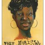 Art from the Marissa Alexander Art Party organized by the Chicago Alliance to Free Marissa Alexander. Photo by Sarah Jane Rhee.