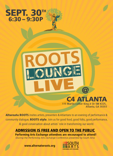 Roots Lounge Live Post Card