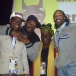 RSC Facilitators Taye Beasley, Omari Fox & Ebony Golden, along with ROOTS Executive Director, Carlton Turner.