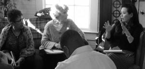 2014/15 Partners in Action Cohort Retreat. L-R: Keryl McCord, Elise Witt, and Kiyoko McCrae. Photo: Carlton Turner.