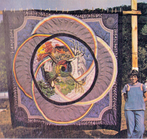 Camille Shafer and her Four Seasons quilt.