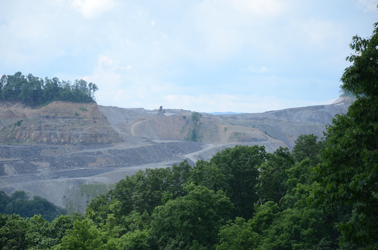 Mountaintop removal, the most extreme form of coal extraction that has persisted the region for decades.  Photo: After Coal project.