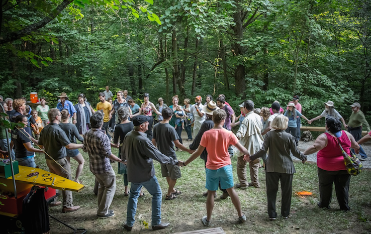 Cry You One residency and artistic exchange on Clear Creek. Photo: Melisa Cardona, 2014.