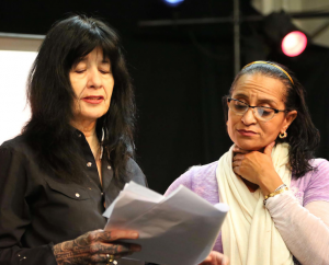 L-R: Joy Harjo, Name. Photo: Meena Natarajan, 2015.