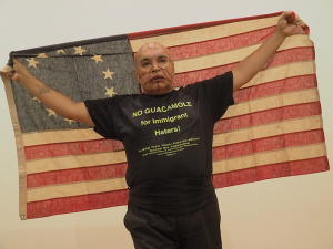 "José Torres-Tama in ""ALIENS, IMMIGRANTS & OTHER EVILDOERS."" Photo: Craig Morse, June 2015."