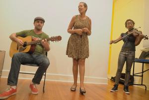 L-R: Billy Franklin, Margie Perez, and Denise Frazier. Photo: Craig Morse, June 2015.