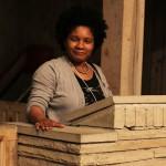 Joan Mitchell Visual Arts Scholar, Angela Davis Johnson in the chapel.