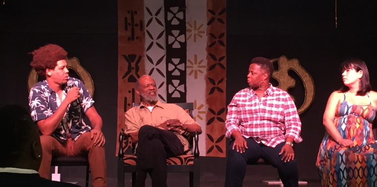 Post-film discussion with (L-R) Jason Foster, John O'Neal, Stephanie McKee, and Kiyoko McCrae. Photo: Rebecca Mwase, 2015.