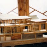 This wood model, built in 1980, of the future Azule site that Camille and a handful of local talented workers built, is a faithful representation of the structure that exists today. (Photo: Azule Archives)