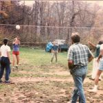 Early Azule days were marked with many fun events for residents and visitors, such as ping pong tournaments, a food co-op, and this weekly volleyball game. (Photo: Azule Archives)