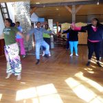 Ital Al Ami leads a group of dancers at an Azule skillshare event.