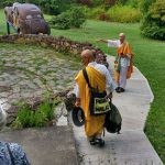 These Buddhist monks have organized a Peace Walk culminating in the nuclear site at Oak Ridge, TN for many years, and this year Azule hosted them for one night while on their journey.